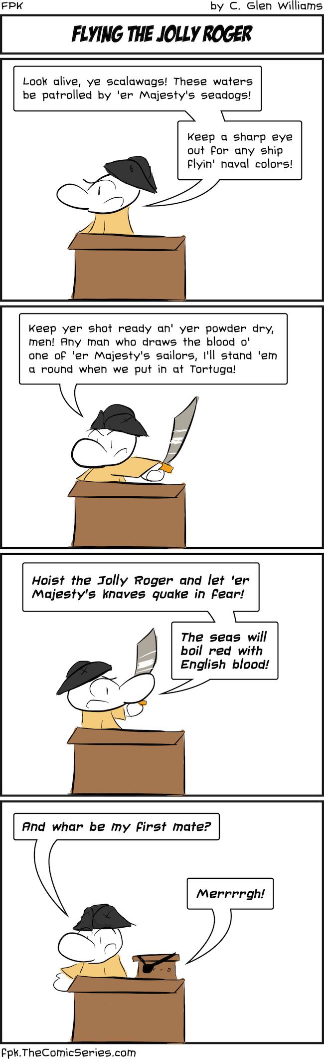 Flying the Jolly Roger