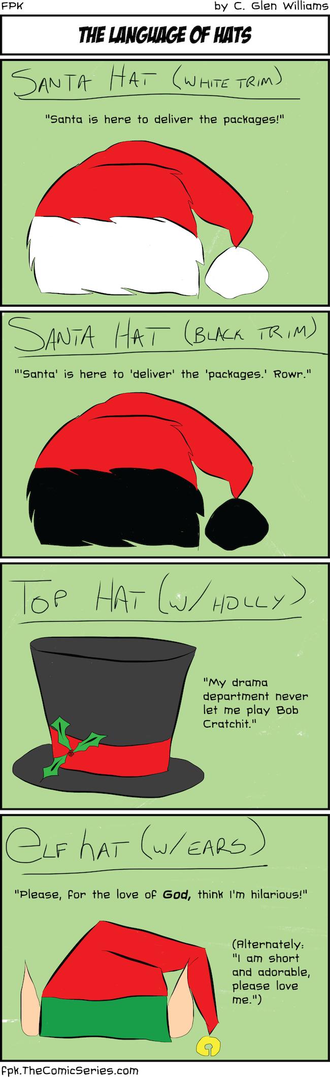 The Language of Hats
